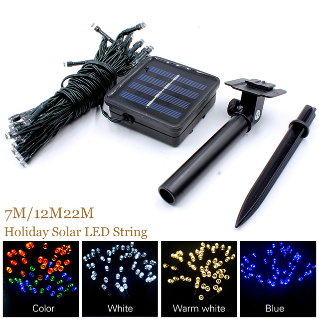 Solar Lamp LED ChristmasLights 6V 7M 12M 22M Fairy String Lights Led Outdoor Lighting 2 Modes Waterproof For Garden Light Strip