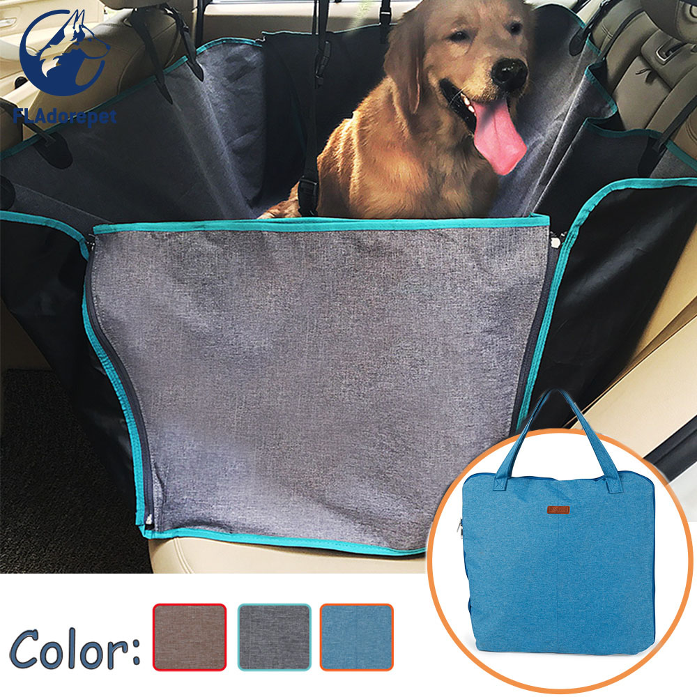Waterproof Dog Car Back Seat Cover Pad For Big Dog Cat Pet Car Protector Cover Mat Dog Barrier Dog Hammock Foldable To Bag
