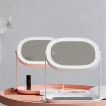 Multi-function LED Makeup Mirror Table Lamp Desktop Vanity Bed Storage Night Light Princess Led