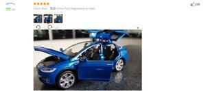 Image 3 - Модель автомобиля из сплава в масштабе 1:32 Tesla Model X, металлические игрушечные автомобили с откидной задней мигающей музыкой, детские подарки, бесплатная доставка