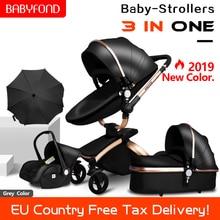 Babyfond High landscape 3 in 1 baby stroller portable foldin