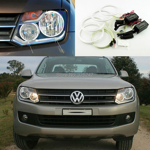 Для Volkswagen VW Amarok 2011 2012 2013 2014 Отлично Ultrabright Angel Eyes освещения ccfl angel eyes kit Halo Кольцо