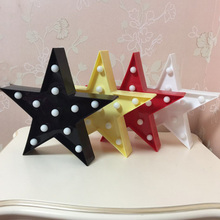 5 Color Star Light 3D Cloud Lamp Moon Night Light LED Cute Marquee Letters Sign For Children Baby Bedroom Home Decor Kids Gift