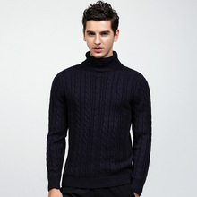 ZOGAA Autumn New Men's Sweaters Solid Simple Pullovers Turtleneck Computer Knitted  Mens Sweaters 2018 3 Colors