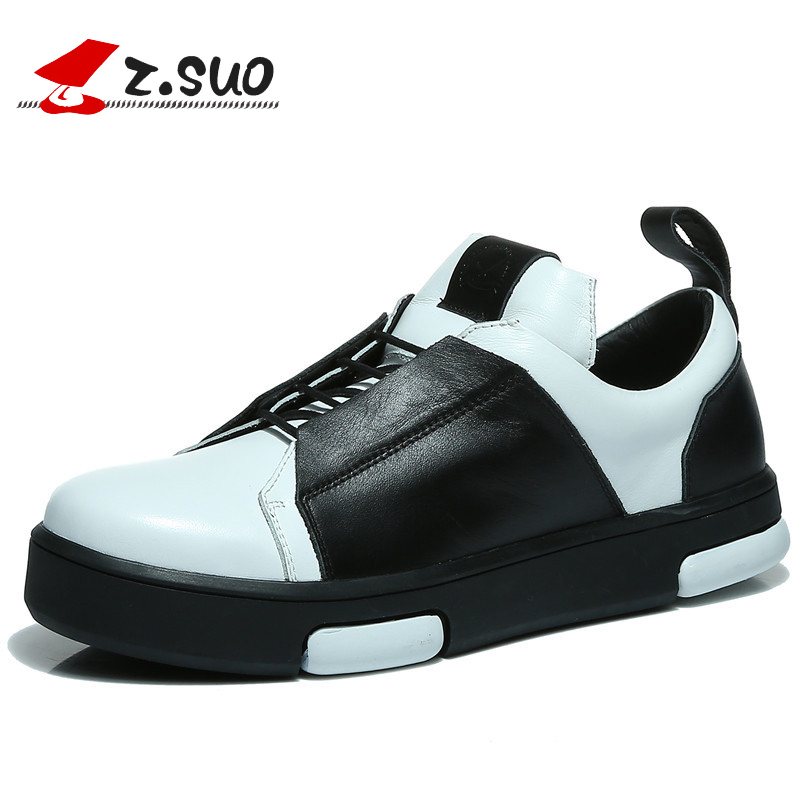 Zsuo autumn genuine leather casual male shoes men s excellent quaity outdoor low top shoes free