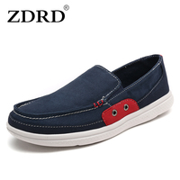 ZDRD Fashion Summer Men Men S Vulcanize Shoes Canvas Shoe Breathable Casual Loafers Shoe Comfortable Ultralight