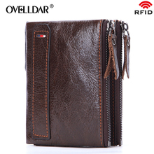 Genuine Leather men wallets Zipper & Hasp Solid purse luxury brand wallet classic fashion dropshipping new 2019 hot selling