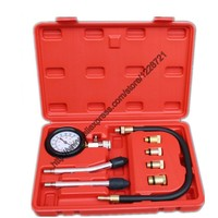 Petrol Gas Engine Cylinder Compress Gauge Tester Kit Motor Auto Petrol Gas Engine Cylinder Compression Car