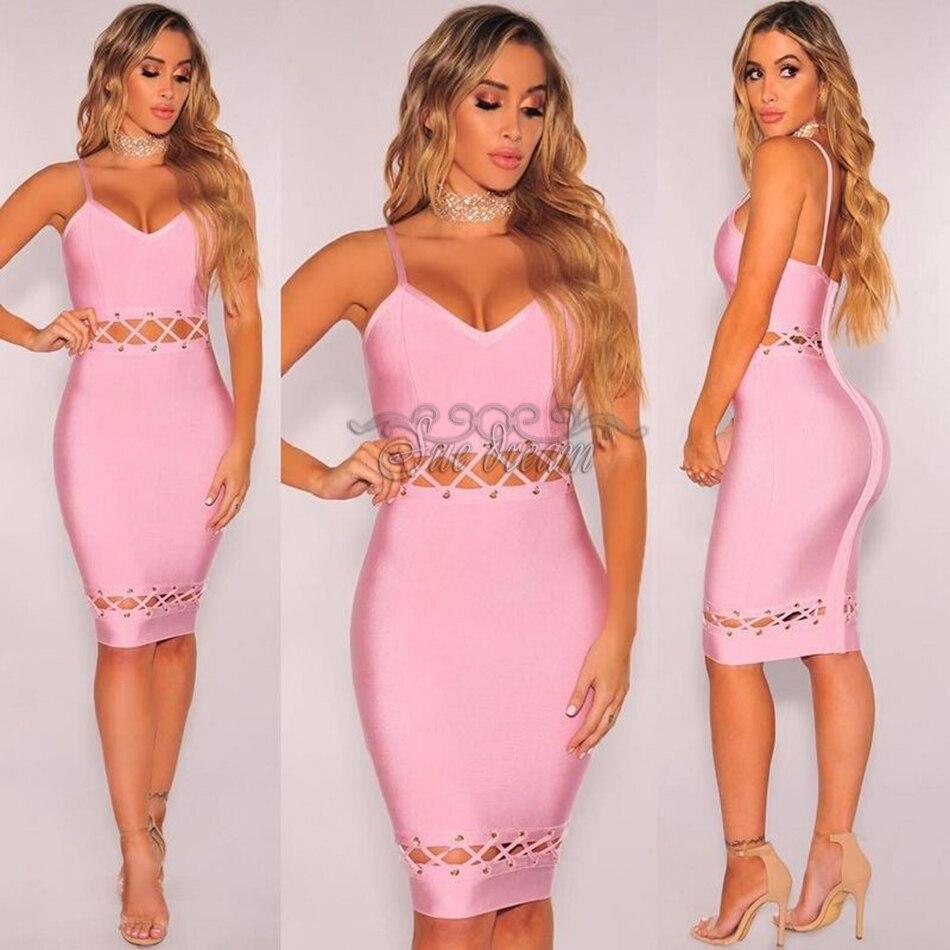 Sexy Club Kleid orange rosa 2017 Sommer Party Kleid Frauen ...