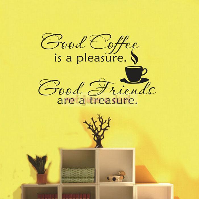 New Coffe Room adesivo de parede Wall Sticker Proverbs Decoration ...
