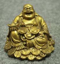 chinese buddhism copper wealth happy laugh Maitreya Buddha statue