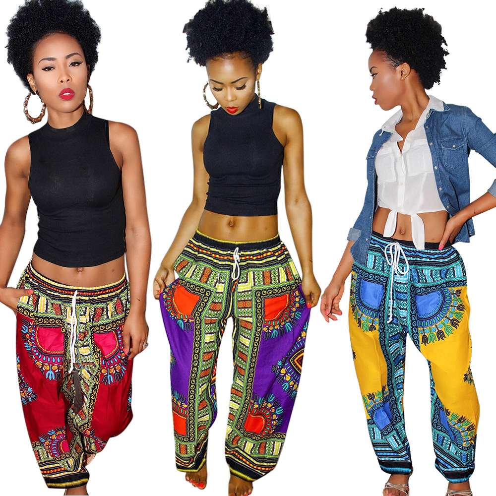 African Print Fashion: 2016 New Fashion Design Man Pants Traditional African