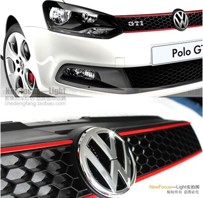 High Quality ! For VW Polo GTI Grille 2010-2013 Front Racing Grill With Super for chevrolet malibu 2012 2013 2014 grill grille front racing cover high quality new aluminum alloy 3pcs