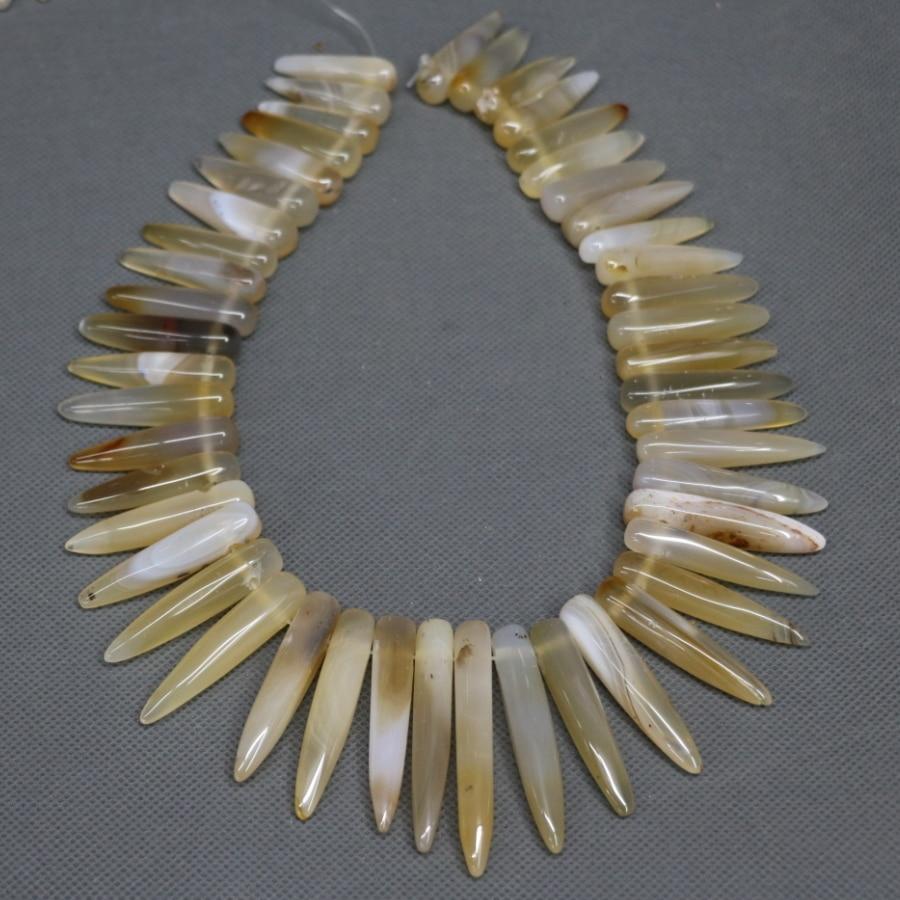 Full Strand Yellow Necklace Beads, Stone Pendant Finding, Kindgems Charm Women Super Popularity European Fashion Jewelry