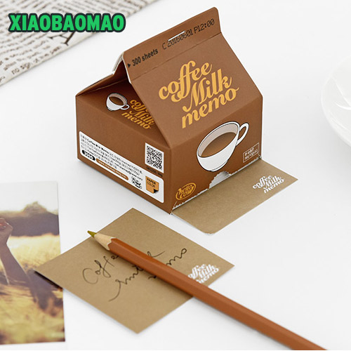 200 sheets cute creative animal cow milk coffee shape memo pad sticker kawaii post it note paper in memo pads from office school supplies on