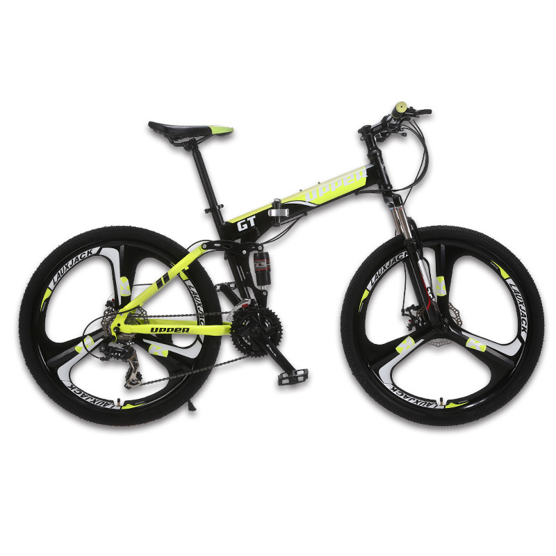 UPPER Mountain bike two suspension system steel folding frame 24 ...