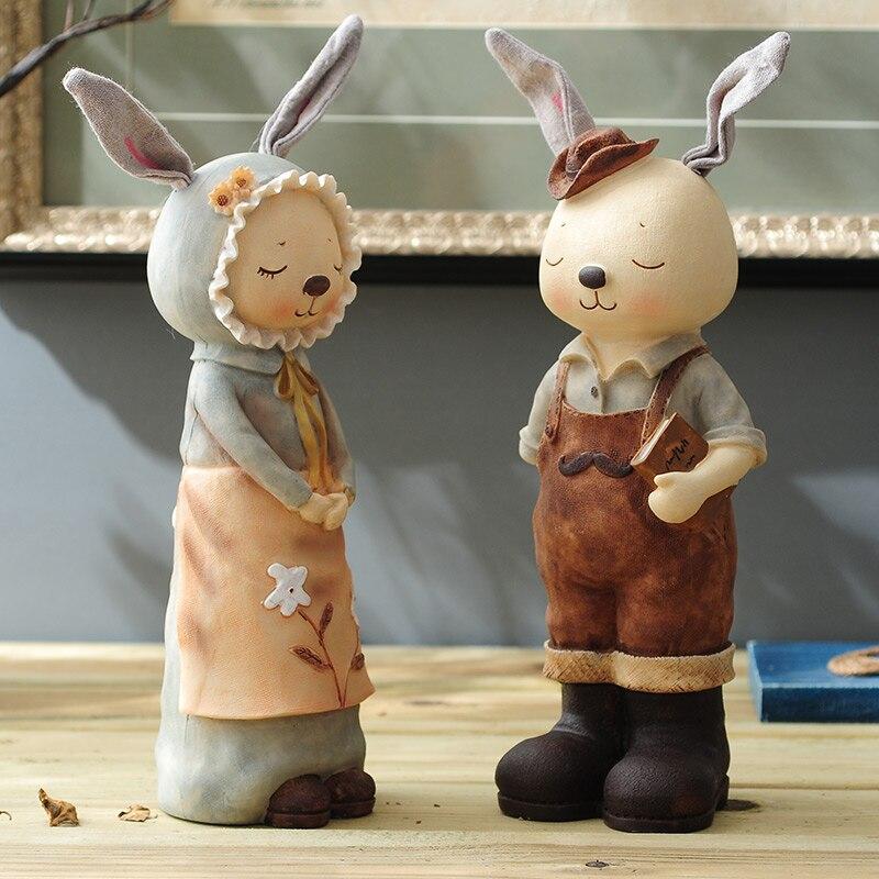 Poupées de salon dessin animé lapins pots d'argent créatifs beaux cadeaux d'anniversaire salon armoires à vin décorations pour la maison