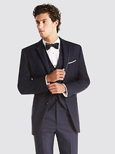 bespoke men tuxedo for groom suits 3 piece suit slim fit custom made prom wear navy blue
