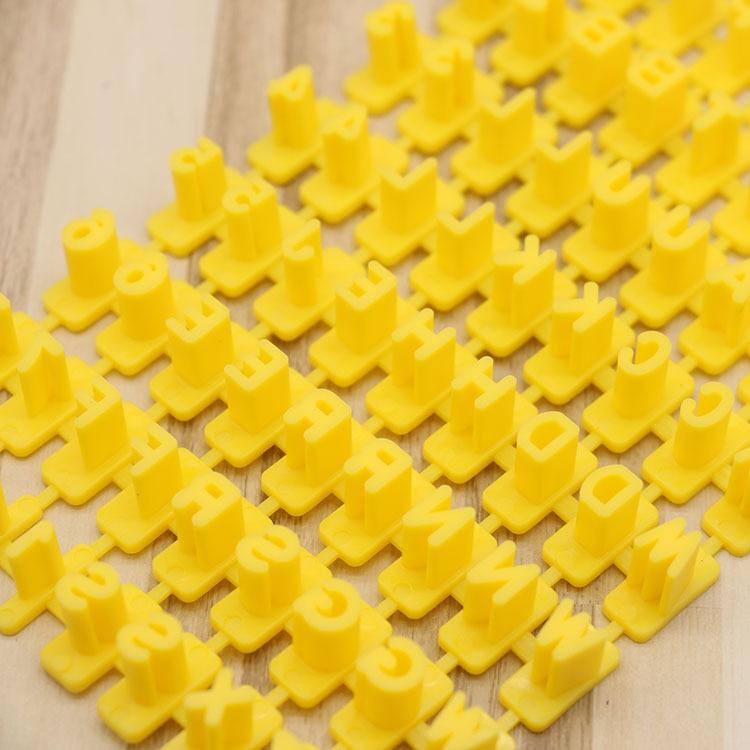 1set DIY Alphabet Plastic Cake Mould Biscuit Cookie Mould Cutter Baking Tools