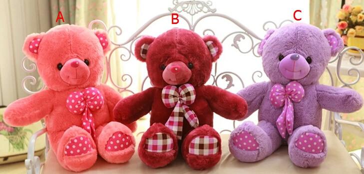 Tie teddy bear / plush toy / valentine gift