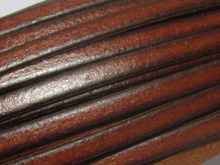 Distressed 5mm leather Ancient brown 5x1.5mm strips