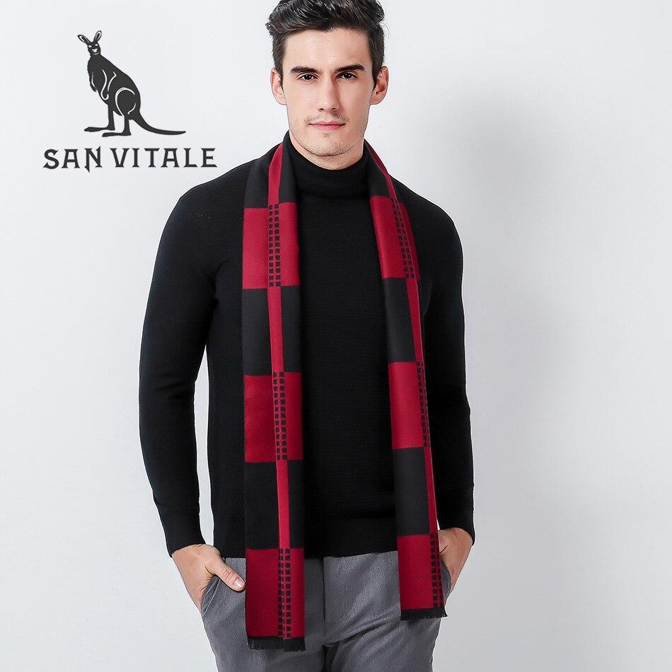 Bufandas hombres bufanda pashmina Cashmere ponchos y CAPES calidad superior  Accesorios para damas ropa caliente del invierno marca de lujo Plaid en Los  ... 98e376aade5