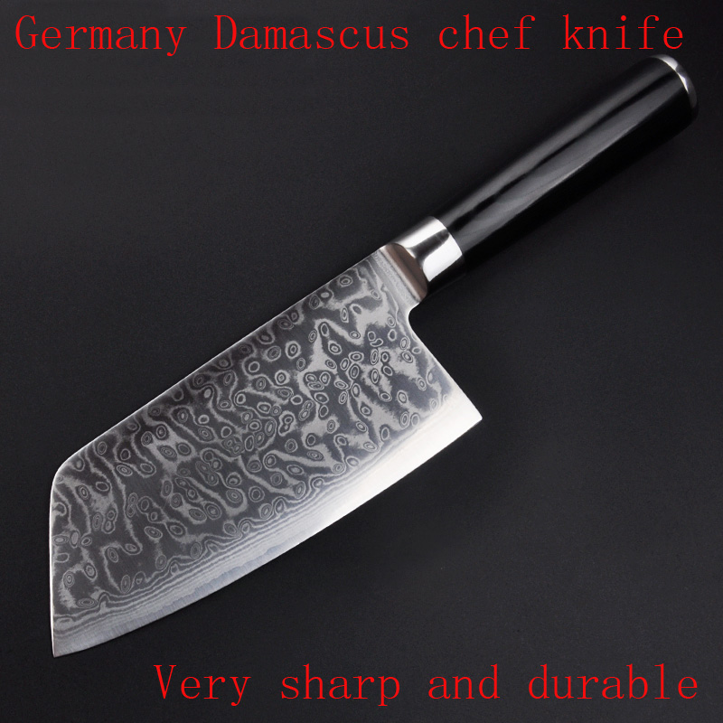 7 Inches Damascus Chef font b Knife b font with VG10 Japanese Damascus Steel font b