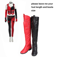 Batman Arkham Knight Cosplay Boots Harley Quinn Boots Game Cosplay Shoes Female Halloween Accessories Adult Women