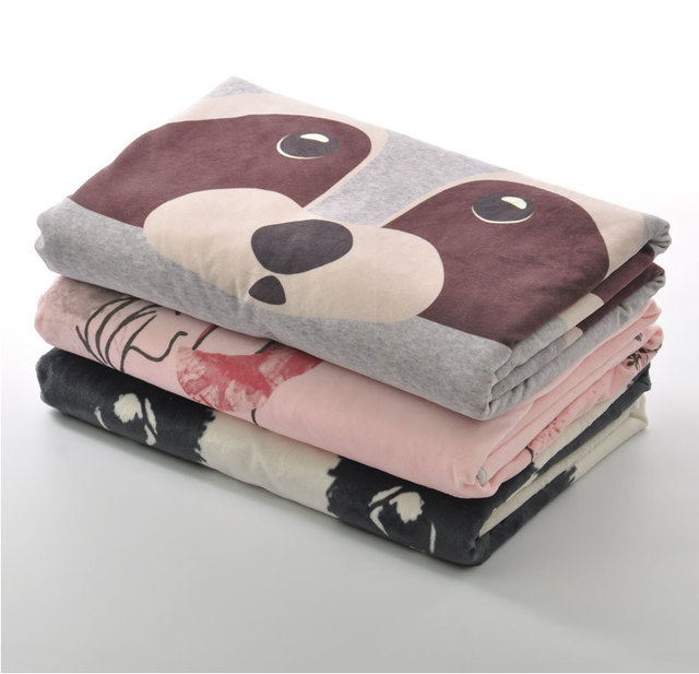 Cute panda Winter Newborn Baby Blanket Child Blanket Soft Thermal Blanket Swaddling Coral Fleece Blanket 100x75cm