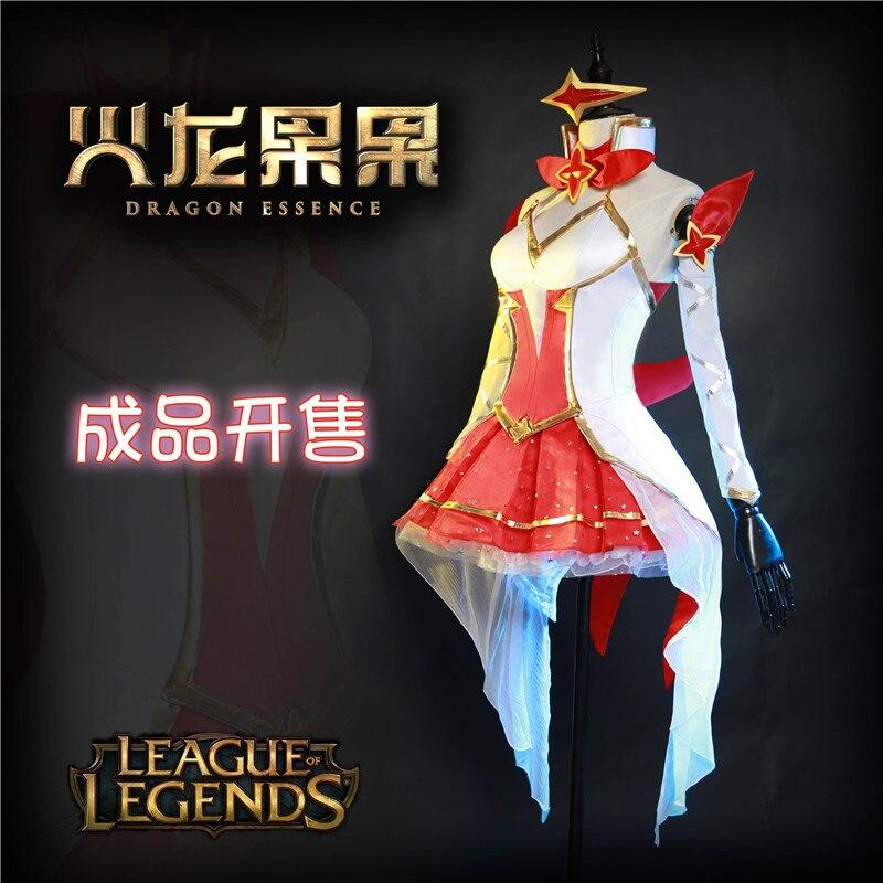2017 New Hot The Game LOL Soraka Soraka-The Starchild Star Of The Guardian Of The Magic Girl Costume Cosplay O