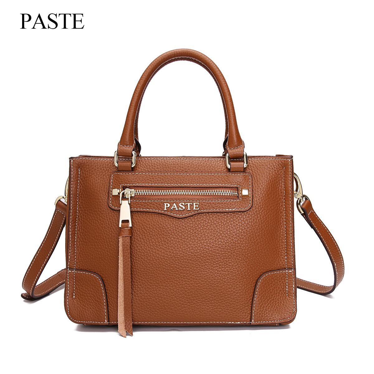 100% Cow Genuine Leather Handbags For Women Luxury Designer Tote Shoulder Bag Female&Ladies Messenger Bags Small Hand Bag PT36 women messenger bags leather clutch purse casual small shoulder bag for girl female tote handbags wristlet bolsa tote hand bag