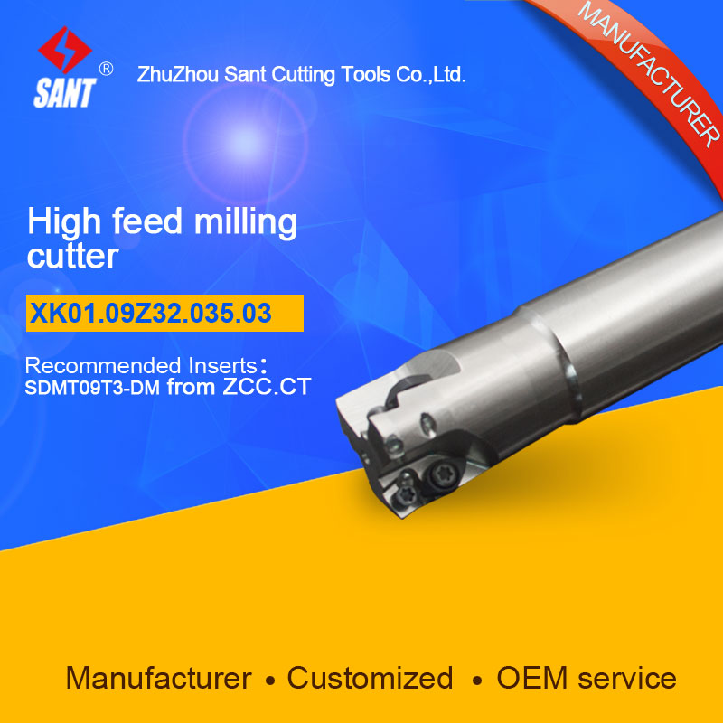 Suggested XMR01-035-G32-SD09-03 Indexable Milling cutter SANT XK01.09Z32.035.03 with SDMT09T3-DM carbide insert
