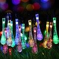 20 Gota de Agua LED Solar Powered Luces de la Secuencia del LED Luz de Hadas de la Boda Festival Fiesta de Navidad Decoración de Interior y Exterior