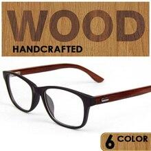 Ретро Деревянные оптические очки оправа для мужчин и женщин очки по рецепту Мода
