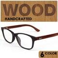 Retro de Madeira armação de óculos óptica para os homens as mulheres pontos de prescrição eyewear armacao de oculos de grau masculino