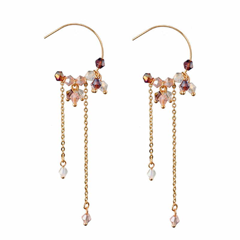 2018 fashion crystal earrings delicate rs