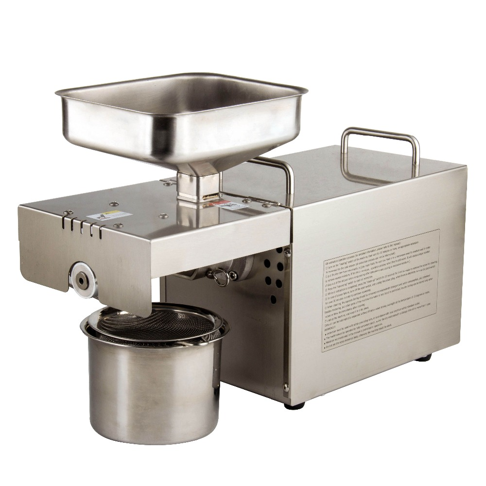 automatic oil press machine,oil presser Home ,stainless steel seed oil extractor,Mini Cold hot oil press machine T501