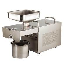 Автомат пресс нефти, пресс для отжима масла дома, нержавеющая сталь отделитель масла из семян, мини-холодная горячая масло пресс-машина T501