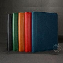 Bolsas multifuncionales de administración de negocios para documentos, carpetas de cuero PU para documentos A4, manual de informes de documentos con carpeta de 4 anillas 1206