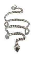 1 unid étnica Indiana womans plata tibetana del brazalete de la vendimia evil serpiente brazo manguito abierto brazalete pulsera ancha para mujer joyería