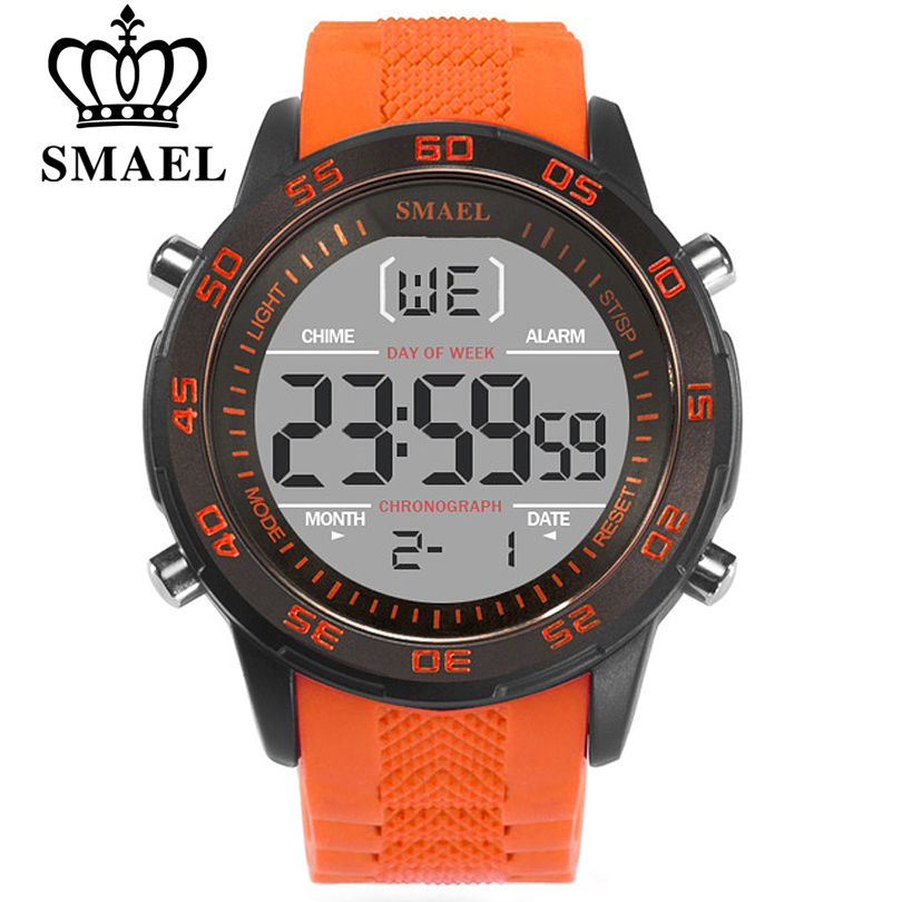 SMAEL Fashion Sport Watches Men Silicone Strap Brand Digital-Watch Noctilucous Waterproof Luxury Watch Men's Relogios Masculinos