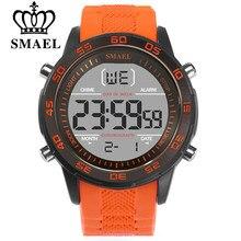 SMAEL – montre de Sport pour hommes, bracelet en Silicone, numérique, noctiluce, de luxe, étanche