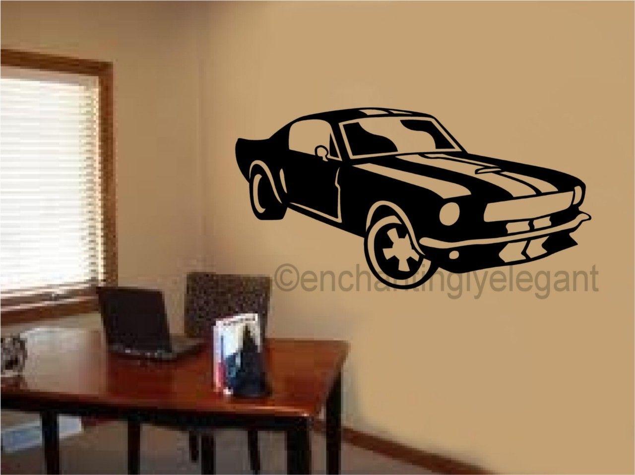D290 Mustang Shelby Car Vinyl Decal Wall Sticker Office Shop Teen Boy Room Decor Art