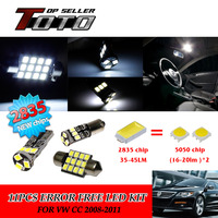 12x LED Car Auto Interior Canbus Dome Map Reading Light White 2835 Chips Kit For VW
