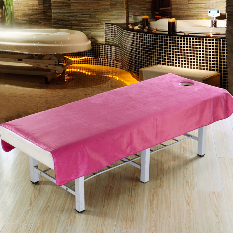 80*195cm 120*195cm Soft Beauty Bed Sheet SPA Massage Bed Tablecloth Linens  Cotton Profession Bed Cover Flat Sheet With Hole In Sheet From Home U0026  Garden On ...