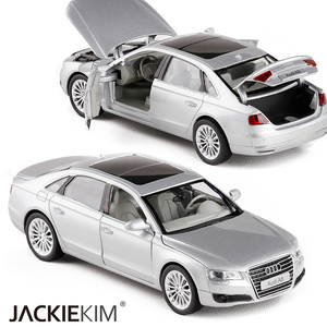 Image 3 - High simulation 1:32 AUDI A8 Alloy Car Model Metal Toy Vehicles With Pull Back Flashing Musical For Kids Toys Free Shipping