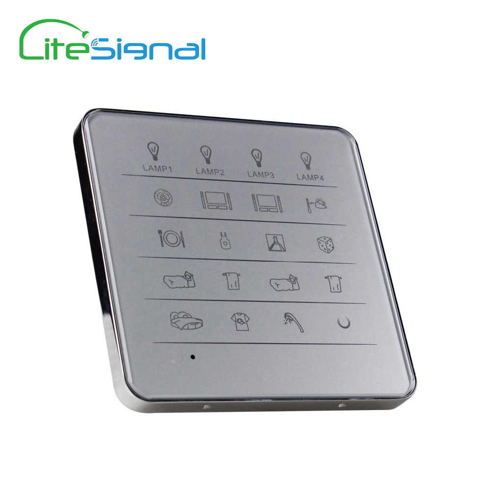 New royal smart home switch touch wall switch remote control 60 way of lamps in 15 rooms, with luxury Zinc alloy frame design