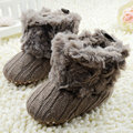 2016 Children Baby Newborn Winter Crochet Knit Fleece Boots Toddler Girl Wool Snow Shoes 0-18M