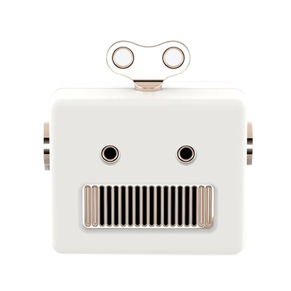 Portable Retro Robot Shape Bluetooth Speaker Cartoon Mini Outdoor Wireless Speaker HIFI Bass Column Loudspeaker With Microphone