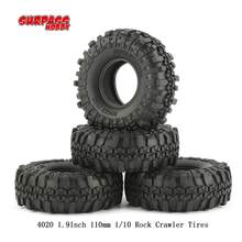 Superar HOBBY 4 piezas 4020 de 1,9 pulgadas 110mm 1/10 Rock Crawler neumáticos para D90 SCX10 AXIAL RC4WD TF2 RC coche(China)